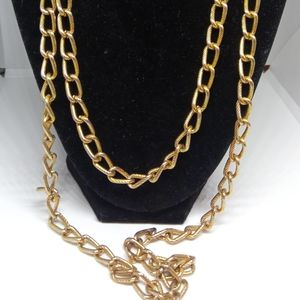 Very long chain necklace